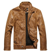 Load image into Gallery viewer, men motorcycle winter coat leather  jacket - shop416.com