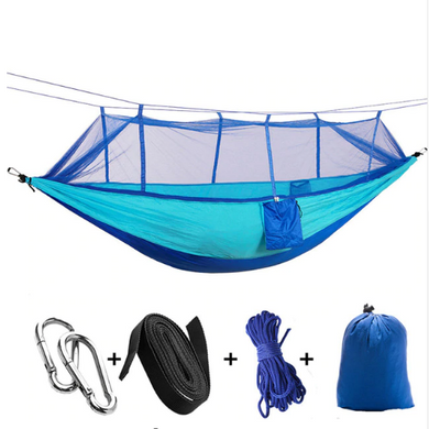 Outdoor parachute double hammock  with insect-proof  net camping aerial tent - shop416.com