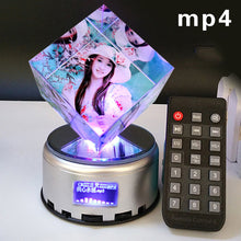 Load image into Gallery viewer, DIY creative birthday gift luminous music rotating crystal cube photo customization for men and women friends and wives