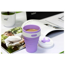 Load image into Gallery viewer, Coffee Mugs Travel Collapsible Silicone Cup Folding Water Cups BPA FREE Food Grade Drinking Ware Mug Tea Coffee Cups
