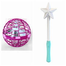 Load image into Gallery viewer, Interactive Fingertip Toy Magic Wand Induction Luminous Swirling Flying Ball Gift Kids Adults