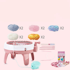 Automatic hand-cranked sweater knitting machine knitting sweater handmade diy