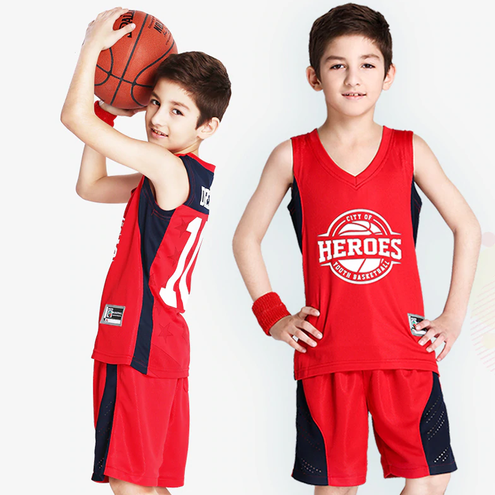 Kids Basketball Jerseys Custom for Boy Girl Sports Kit Jerseys Youth Team Training Uniform Set Breathable Quick Dry Shorts Suits