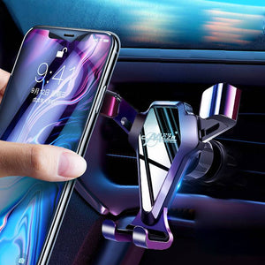 Mobile phone bracket of car universal ball air outlet