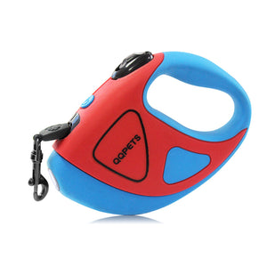 Pet Dog Automatic Retractable Fiber Leash Night Safety LED Shining Automatic Stretching Dog Hand Holding Rope Pet Supplies
