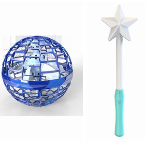 Interactive Fingertip Toy Magic Wand Induction Luminous Swirling Flying Ball Gift Kids Adults