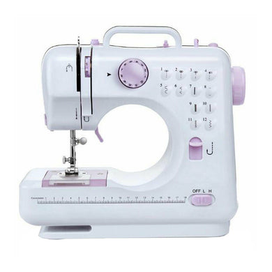 Multifunctional sewing machine with 2 speeds double thread foot pedal - shop416.com
