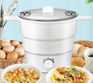 Multifunctional Electric Cooker Mini Noodle Cooker for Student Dormitory Bedroom Travel Folding Cooker Convenient Household Rice