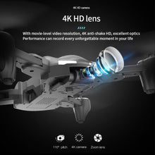 Load image into Gallery viewer, GPS drone HD 4K four axis foldable 2.4 G WIFI drone