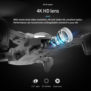 GPS drone HD 4K four axis foldable 2.4 G WIFI drone