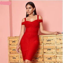 Load image into Gallery viewer, Strapless shoulder tight dress women party dance dress - shop416.com