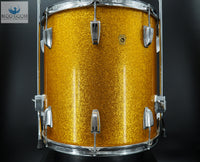 "*GORGEOUS & 100% ORIGINAL* Vintage 1967 Ludwig 16"" Floor Tom - GOLD SPARKLE"