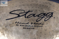 "*SOUGHT-AFTER* Vintage Stagg 20"" Handmade Medium Brilliant Ride Cymbal"