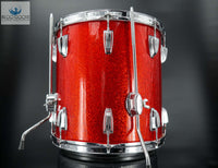 "*GORGEOUS & RARE* Vintage 1969 Ludwig 14""x14"" Floor Tom - Red Sparkle"