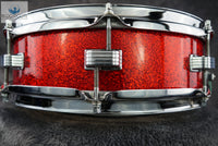 *SOLD* RARE BEAUTY - Ludwig Vintage 1967 4x14 Downbeat Snare Drum in RED SPARKLE