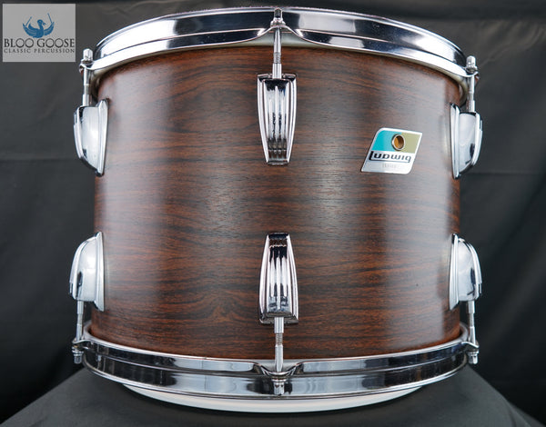 "*SOLD* Vintage 1969 Ludwig 14"" Rack Tom - in a Walnut Finish"