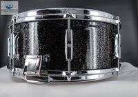 *SOLD* One-of-a-Kind LEEDY SHELLY MANNE 8-LUG SNARE IN BLACK SPARKLE PEARL