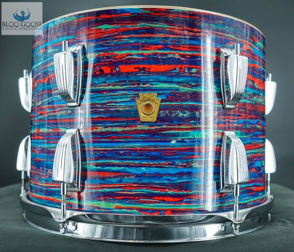 "*SOLD* LUDWIG SUPER CLASSIC 13"" TOM IN PSYCHEDELIC RED"