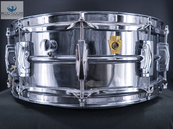 SUPER LUDWIG - CHROME OVER BRASS 1960-63 SNARE DRUM - 100% ORIGINAL