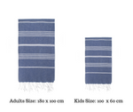 Turkish towel matching adult kids