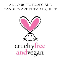 All our perfumes and candles are PETA-Certified