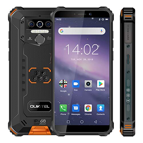 OUKITEL WP5 Rugged Smartphone, Batteria 8000mAh, Display 5.5 Pollici, Quad-core 4GB +32GB, IP68, Antiurto, Triple-Camera, Android 10.0 - Eccomi OnLine