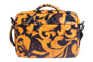 Black & Yellow Floral Laptop Bag
