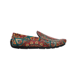 Muet Multi Colour Leather Modern Rangoli Casual Loafers for Men