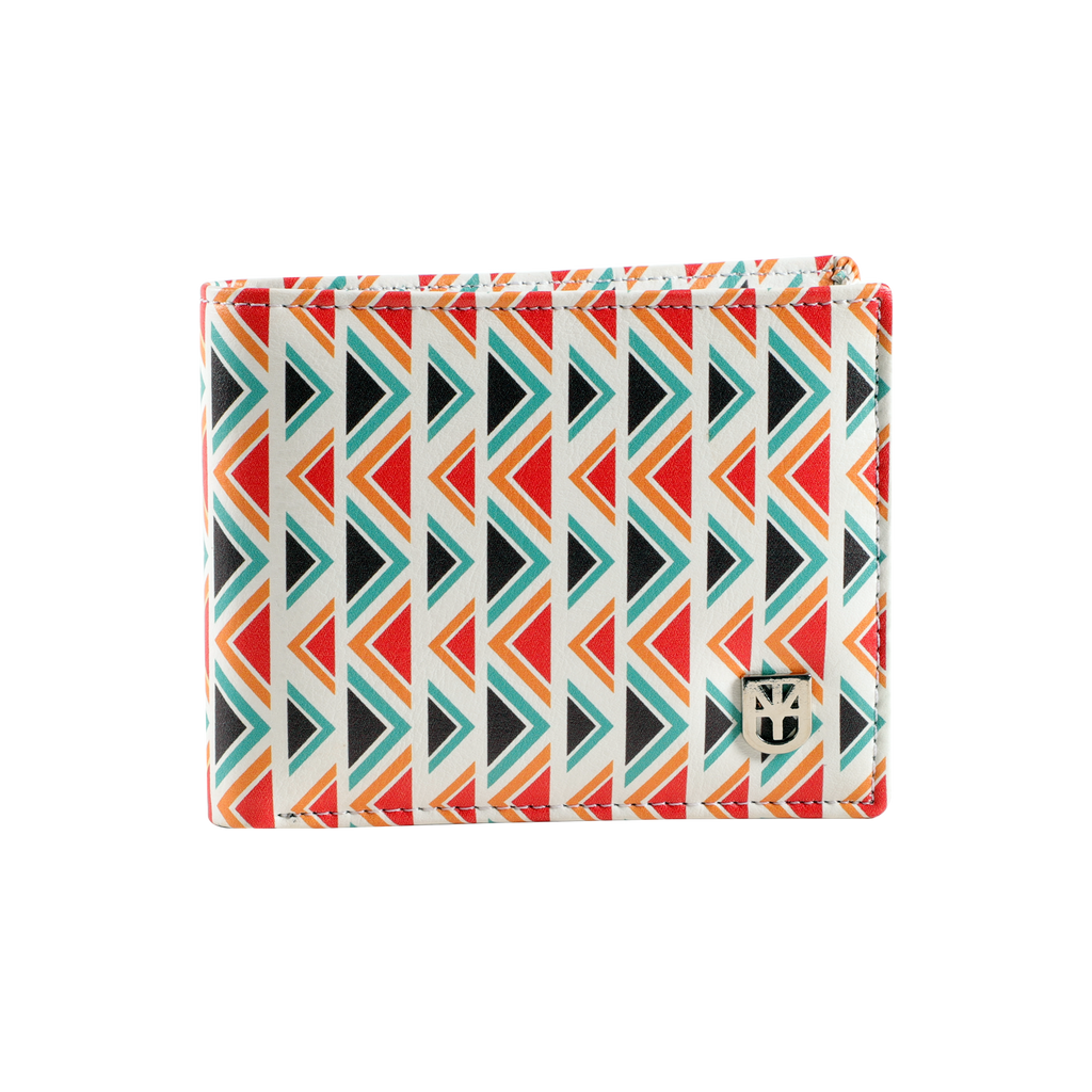 MUET Multicolor The White Aztec Leather Wallet for Men