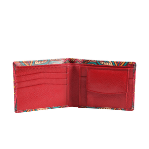 MUET Multi Color The Tribe Vibe Leather Wallet for Men