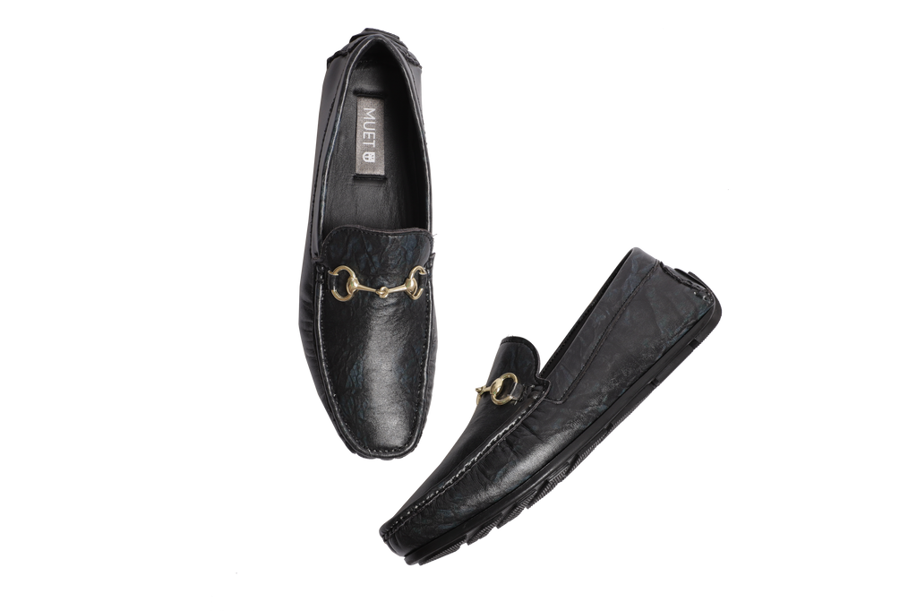 Muet Black Beauty Leather Loafer Shoes for Men