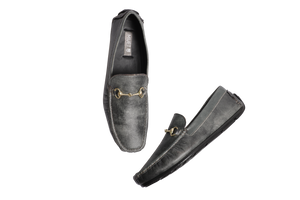 Muet Gray Leather Loafer Shoe for Men