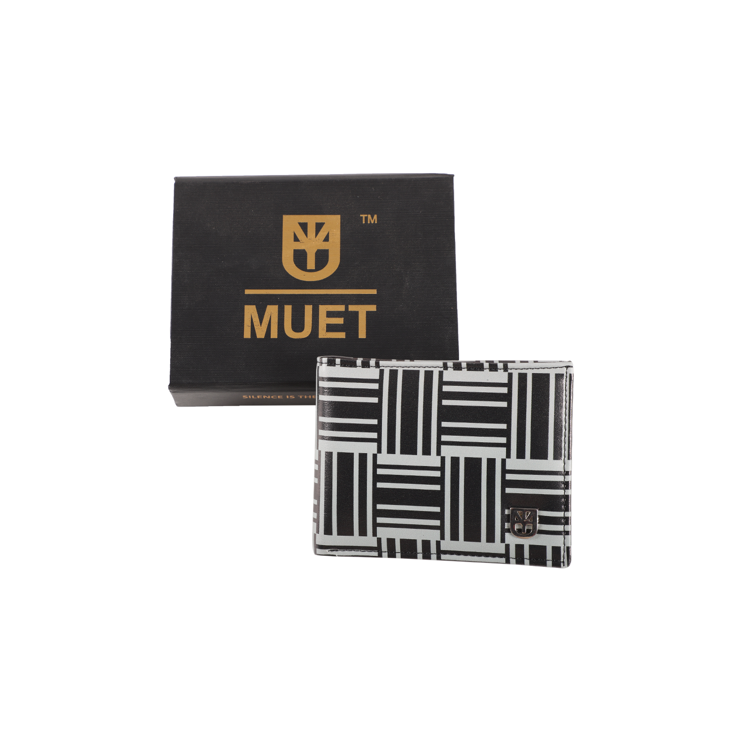 MUET Black The B&G Maze Leather Wallet for Men