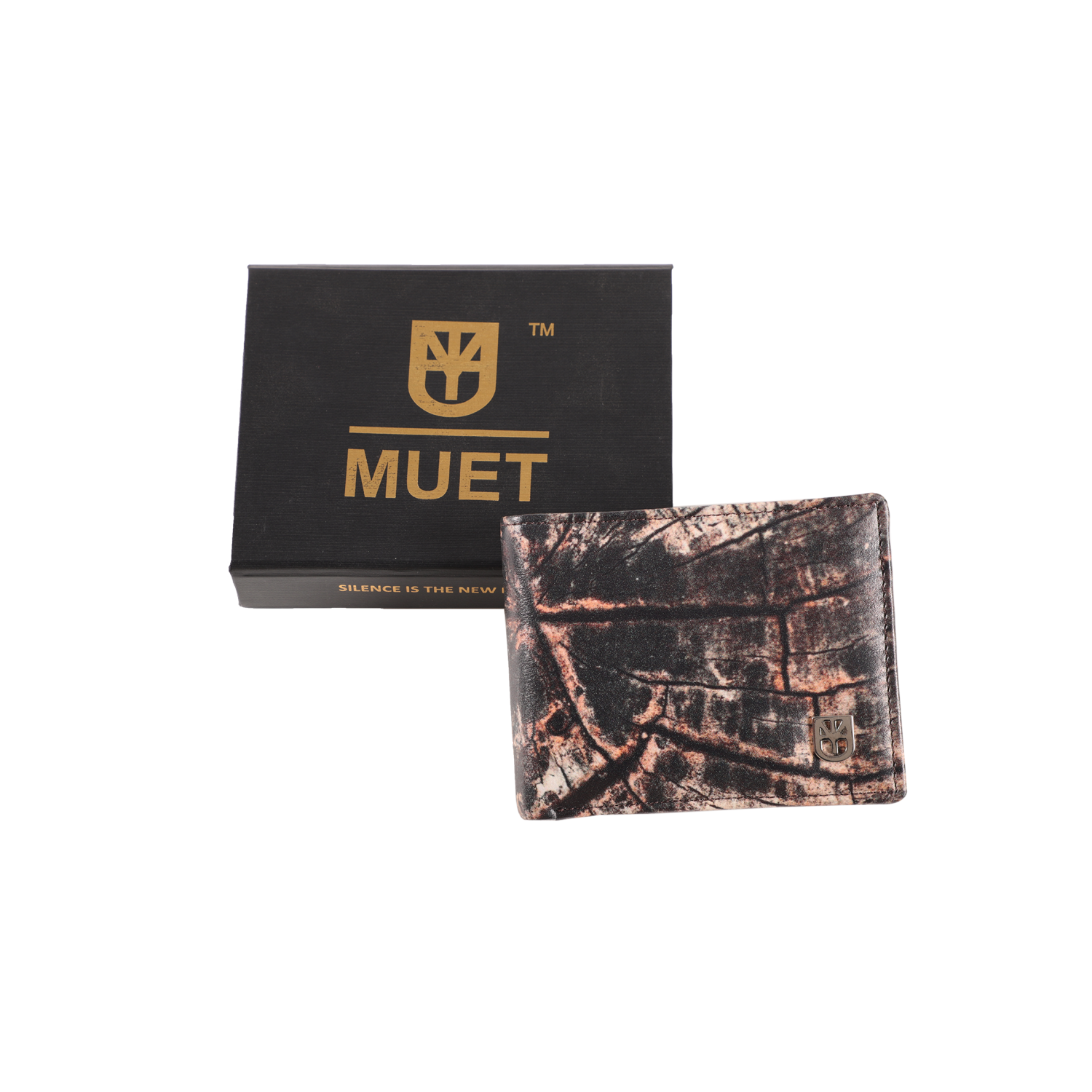 MUET Black The Urban Raw Leather Wallet for Men