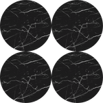 Magnetic Coasters - Black Marble