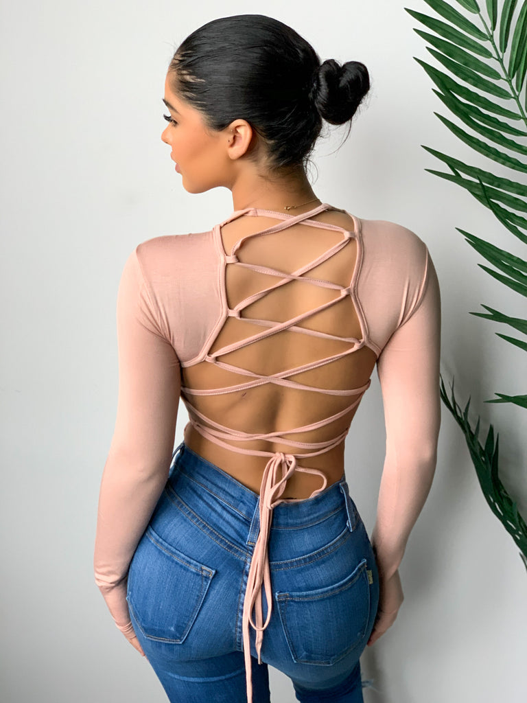 Stella Tie Me Up Bodysuit (Blush)