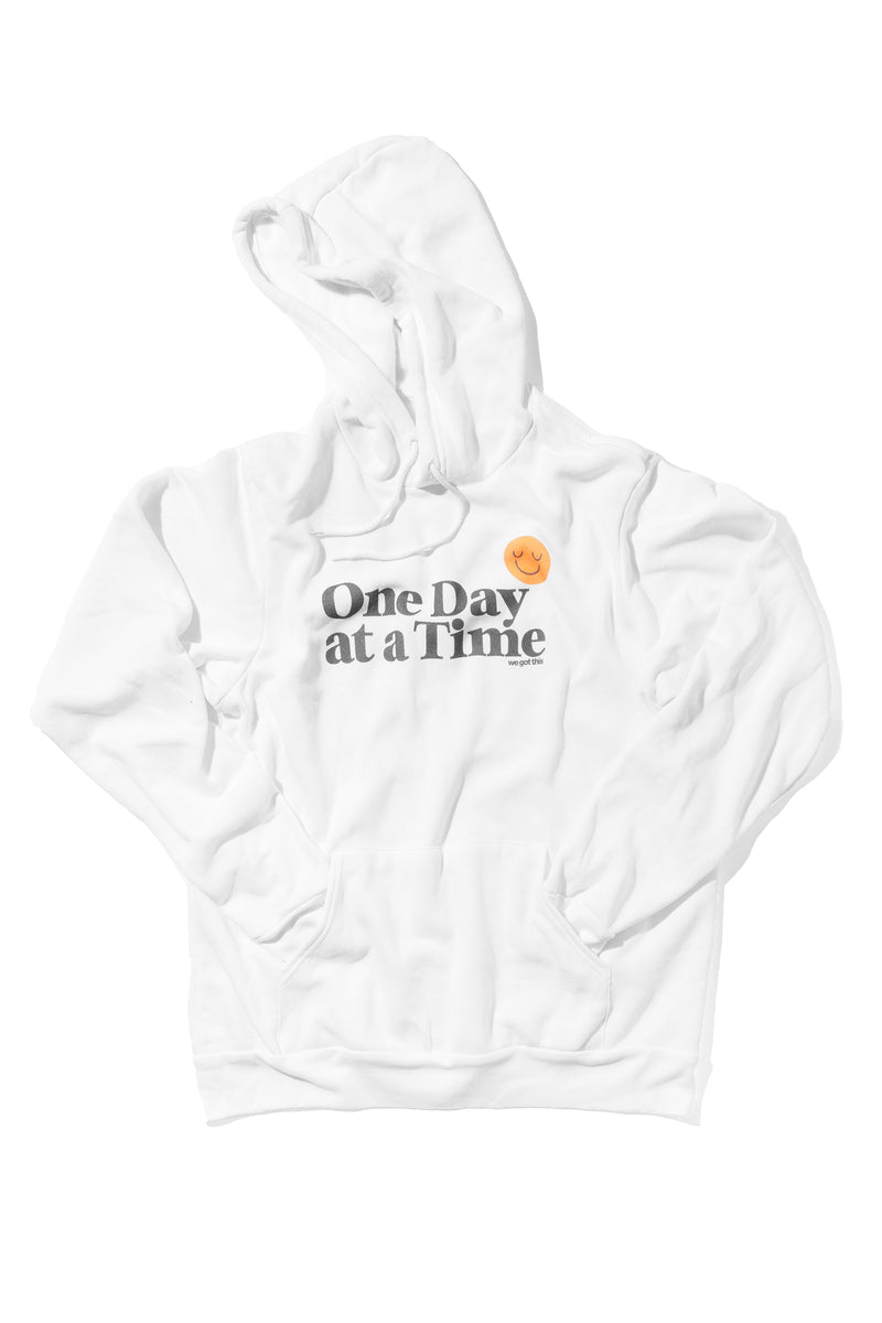 ONE DAY AT A TIME HOODIE- WHITE