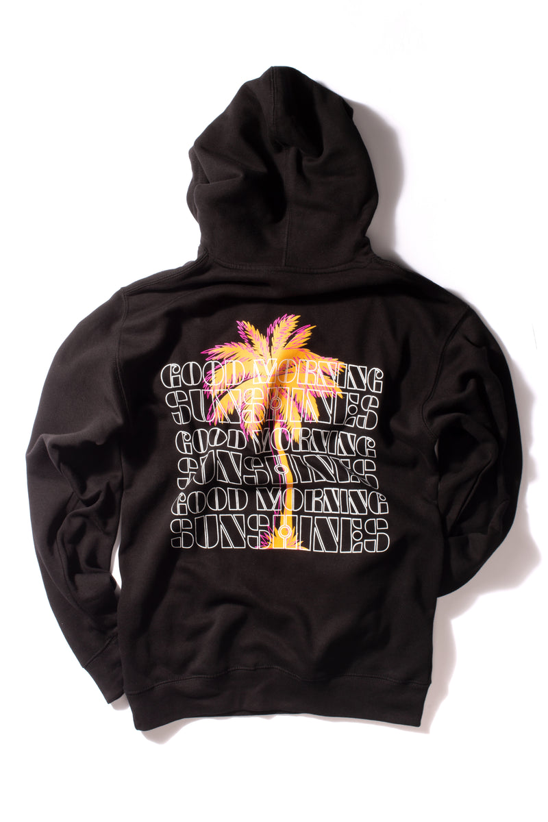 GOOD MORNING SUNSHINE HOODIE - BLACK