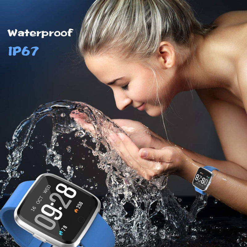 Android iOS Phone 2019 Version IP68 Waterproof,YAMAY Fitness Tracker Watch with Pedometer Heart Rate Monitor Sleep Tracker,Smartwatch