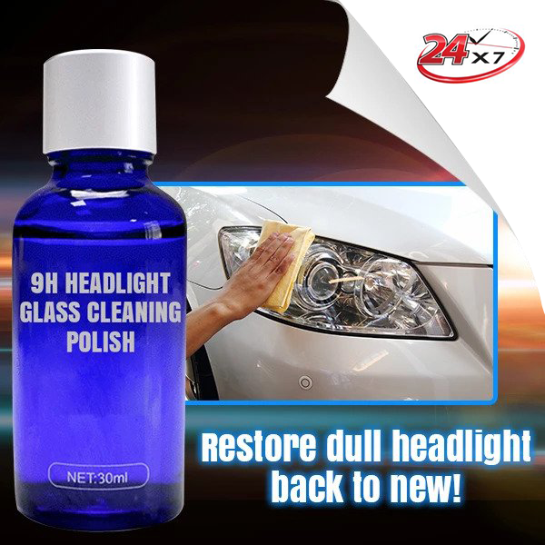 9H Headlight Glass Cleaning Polish
