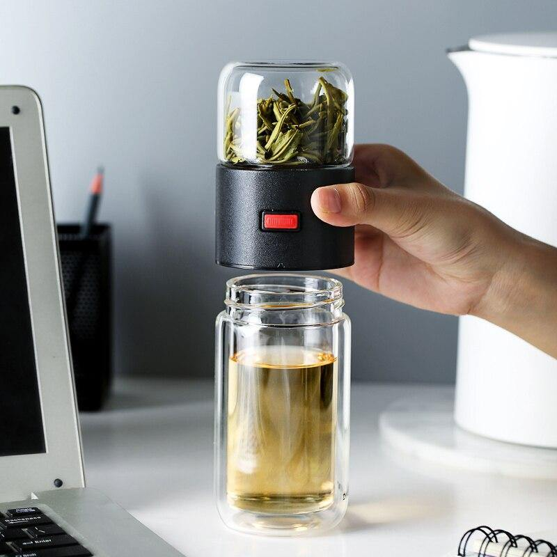 Thermos<br>Verre avec infuseur.