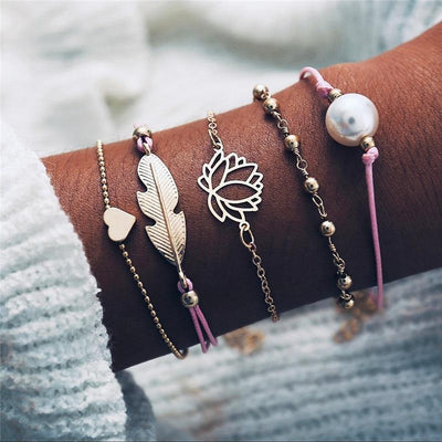 Ensemble Boho  lotus- Bracelet animal assortis pas cher  | OkO-OkO