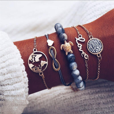 Ensemble Boho love- Bracelet animal assortis  | OkO-OkO