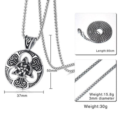 collier noeud trinite pour homme dimentions oko oko