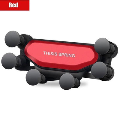 "Support de téléphone ""This is SPRING"" rouge sur fond blanc 