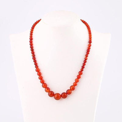 Collier Pierre Naturelle Femme Agate Rouge | oko-oko