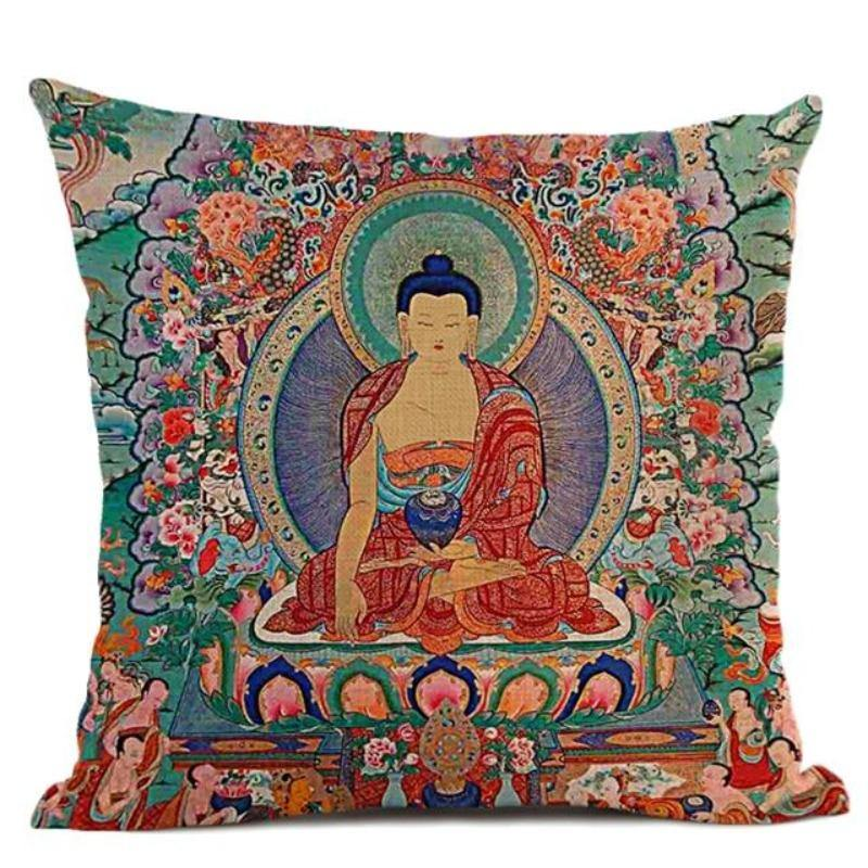 Bouddhisme <br>Coussin Bouddha (9 Variante)