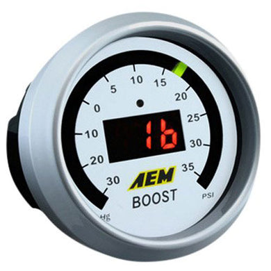AEM 52MM Digital Electronic Turbo Boost Gauge (-30 to 35 PSI)