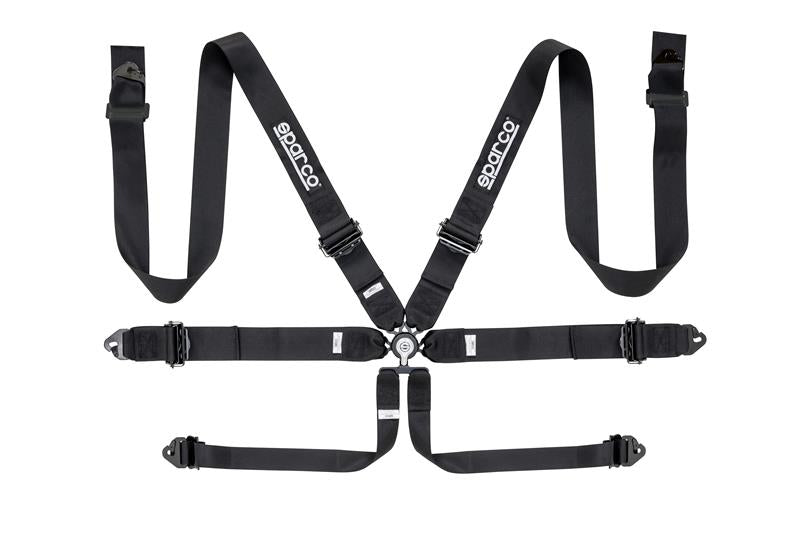 Sparco 6-Point 3 in. Competition Harness Black