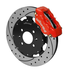 Wilwood Front 4 Piston Caliper 12.19 Drilled Rotor Brake Kit Civic 90-05 w/ 262mm OE Rotor